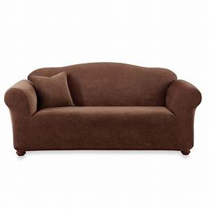 sure fitr stretch sterling chocolate sofa slipcover bed With bed bath and beyond sleeper sofa