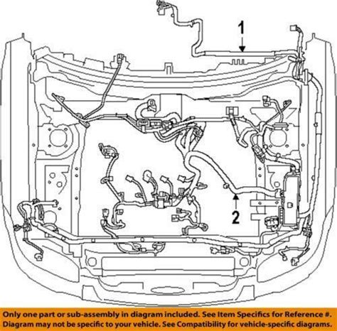 06 Ford Escape Engine Wire Harnes by Ford Engine Wiring Harness Ebay