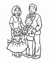 Coloring Draw Drawing Pages Drawings Sketch Happy Members Easy Member Sky Tree Coloringsky Cartoon Familia Sheet Parents Preschool Fun Na sketch template
