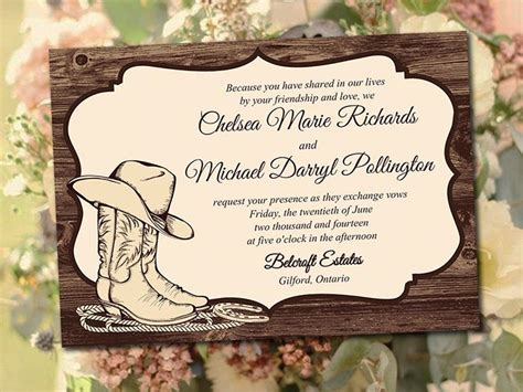 printable wedding invitation template country