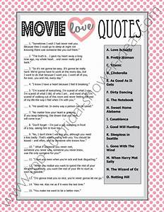 printable wedding shower game movie love quotes game With printable wedding shower games