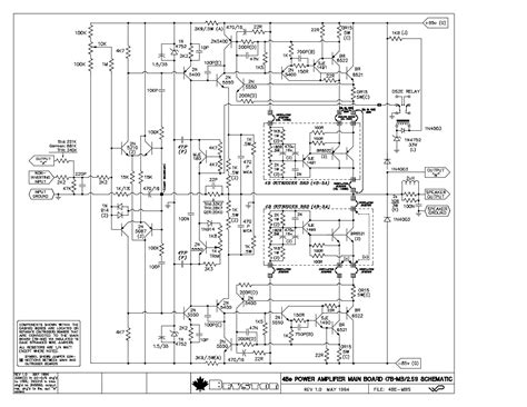 Bryston Power Amplifier Schematic Sch Service Manual