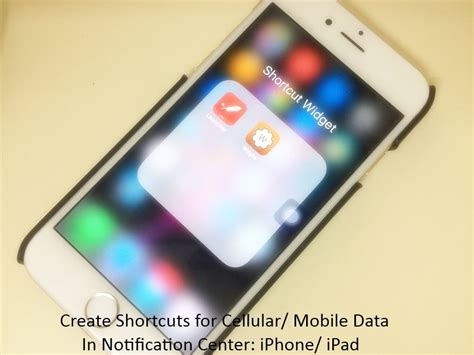shortcuts on iphone create use cellular mobile data shortcut on iphone