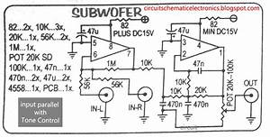 Subwoofer Module Amplifier Using 4558 With Pcb