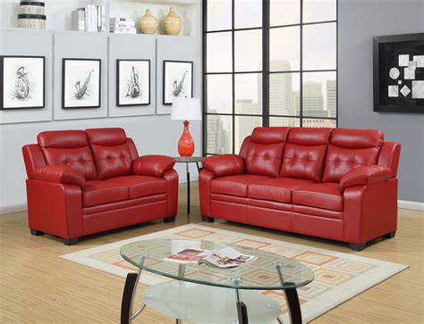 apartment size leather sofa red apartment size casual contemporary bonded leather sofa set