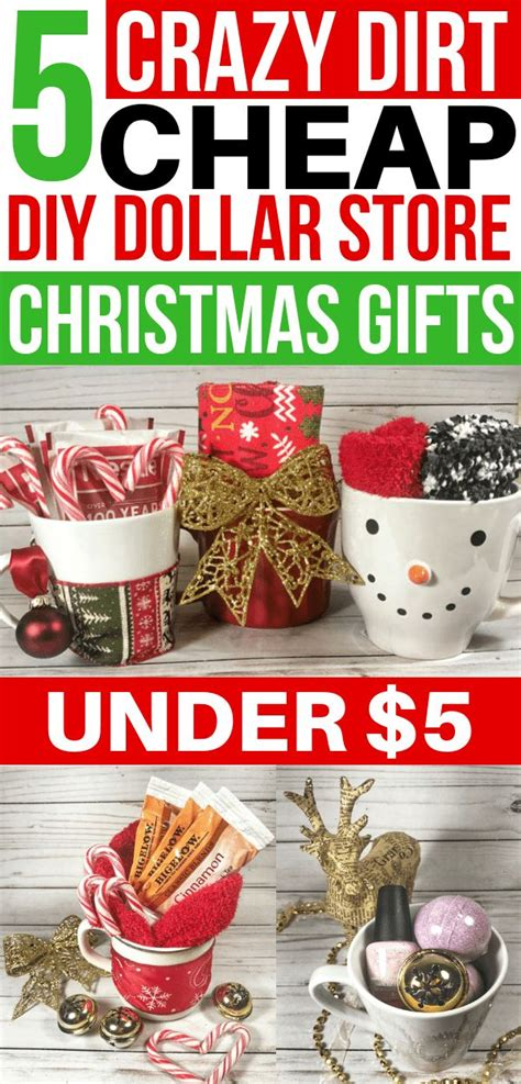 cheap diy christmas gifts   dollar store