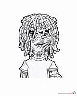 Lil Coloring Pump Pages Printable Gucci Xxxtentacion Gang Sketch Rapper Drawing Flex Template Bettercoloring Ouu Chucky sketch template