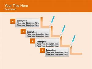 Powerpoint Slide - Step Up Process Diagram - Brushes