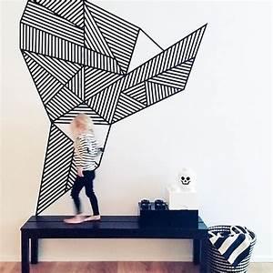 Diy Deco Murale : deco mur avec masking tape diy pinterest deco mur ~ Dode.kayakingforconservation.com Idées de Décoration