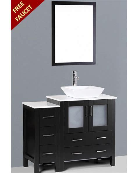 square vessel sink vanity bosconi 42in single square vessel sink vanity boab130s1s