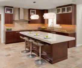 bar island kitchen contemporary kitchen design with functional brown kitchen island and stylish bar stools design