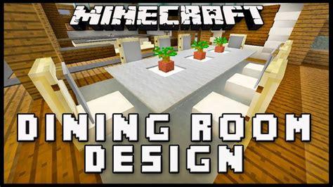 minecraft    dining room furniture modern house build ep  dining room furniture