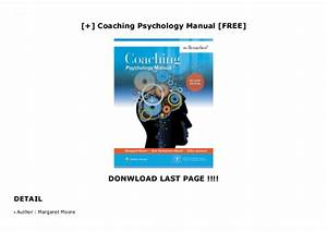 Coaching Psychology Manual  Free