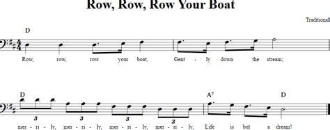 Row Row Row Your Boat Lyrics Notes by Row Row Row Your Boat Cello Sheet