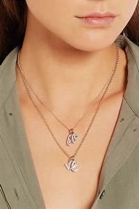lyst monica vinader a z alphabet letter rose gold plated With monica vinader letter necklace