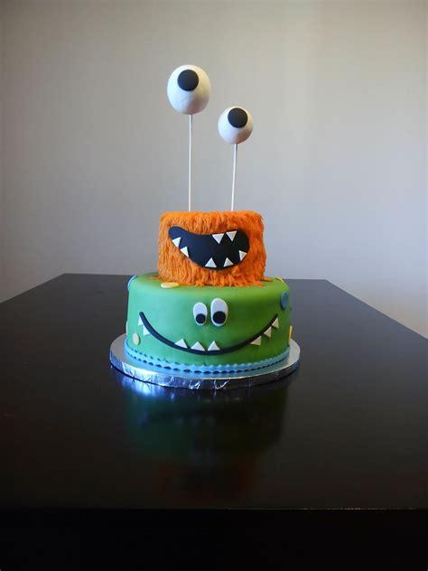 Monster smash cake. Top tier for smashing, bottom for ...