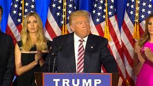 Donald Trump delivers restrained victory speech with ...
