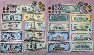 Us Currency Bills and Coins