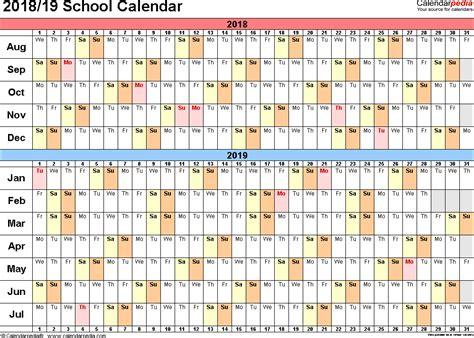 school calendar academic templates printable calendar