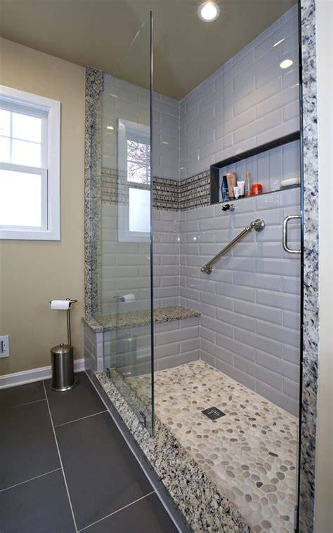 white master bath remodel  walk  shower savvy home