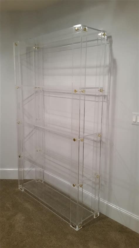 hand  lucite acrylic bookcase button