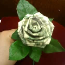 Money Origami Rose Dollar Bills