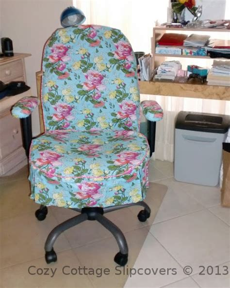 desk chair slipcover cozy cottage slipcovers office chair slipcovers