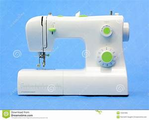 Modern Sewing machine stock image. Image of thread ...