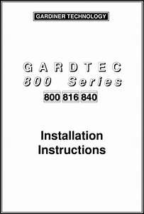 Gardtec 800 Engineer Manual