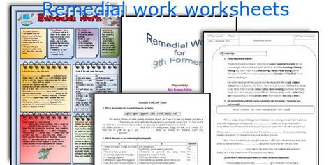 remedial work worksheets