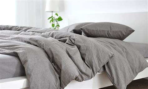 Best Linen Duvet Covers by S Bedding Medium Grey Linen Duvet Cover