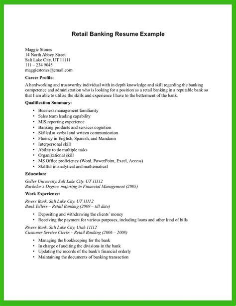 bank resume sle banking resume template resume