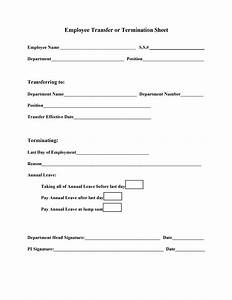 best photos of example of employee termination forms With termination of employment form template