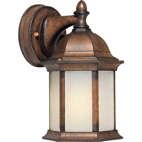 shop 10 in h rustic outdoor wall light at lowes com