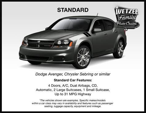 Examples Of Standard For Rental Cars