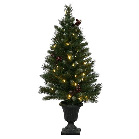 artificial ashberry christmas tree in urn vck4313