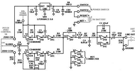 Wiring Diagram Info Simple Theremin With Inverter Gates