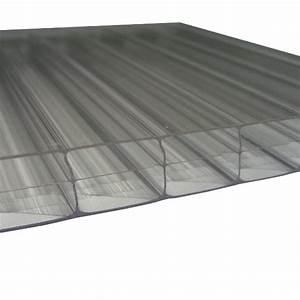 Plaque Alvéolaire Pour Toiture : plaque polycarbonate alv olaire claire 16 mm 1 25 m ~ Edinachiropracticcenter.com Idées de Décoration