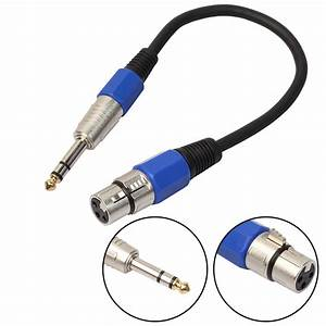 Onsale 1pc 3pin Xlr Jack Male To 1  4 U0026quot  6 35mm Female Plug