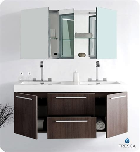medical cabinets with sink 54 fresca opulento fvn8013go gray oak modern double