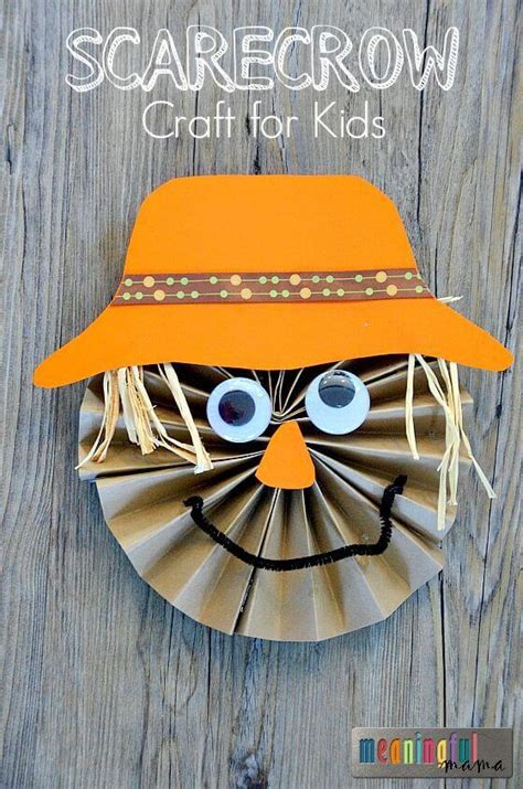 easy fall crafts that anyone can make happiness is 228   Paper Pinwheel Scarecrow Tutorial Sep 24 2015 8 028