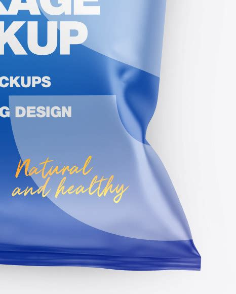 25+ versatile snack tube psd mockup templates. Matte Snack Package Mockup in Flow-Pack Mockups on Yellow ...