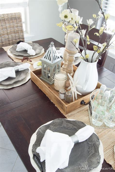 centerpiece ideas for dining room table dining room update a coastal farmhouse table setting