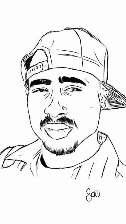 Tupac 2pac Drawing Shakur Sketch Creative Amaru