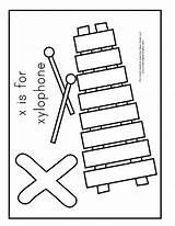 Xylophone Template Coloring Pages Sheets Sheet Preschoolers Templates sketch template