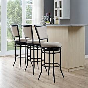 rachel, swivel, bar, stool, in, black, with, black, cushion, -, walmart, com
