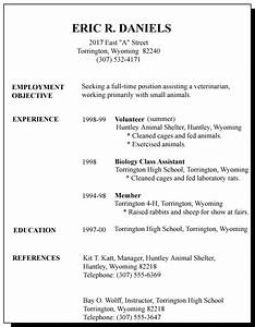 7 good resume examples for first job invoice template for First resume examples