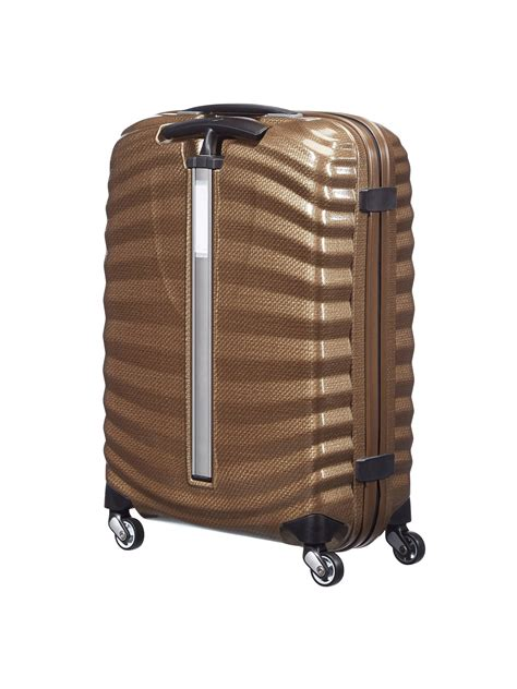 Lewis Cabin Luggage by Samsonite Lite Shock 4 Wheel 55cm Cabin Suitcase Sand At