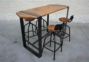 Table Mange Debout Style Industriel : mange debout industriel ~ Melissatoandfro.com Idées de Décoration