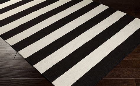 black and white rug black and white striped rug